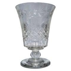 Blown and Cut Flint Glass Flower or Celery Vase, American, Circa 1830