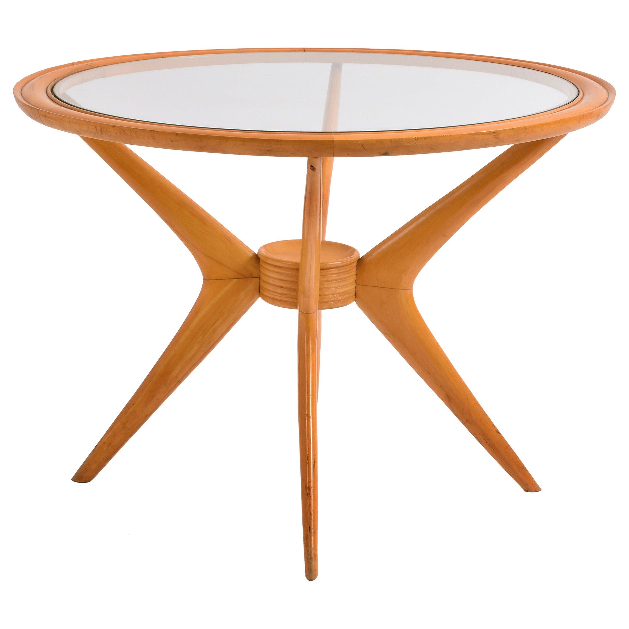 Cesare Lacca Midcentury Birchwood Italian Coffee Table for Cassina, 1950s