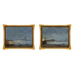Pair of Italian 19th Century Louis XVI St. Gouaches in Their Original Frames