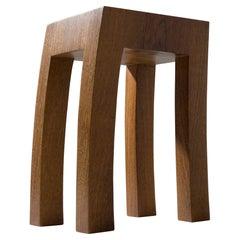 "Stool ""Movement"", Solid Wood, Brazilian Contemporary Design by Rodrigo Silveira"