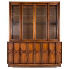 Kent Coffey Perspecta MCM Walnut and Rosewood China Cabinet Sideboard Buffet