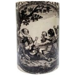 18th Century Creamware Liverpool-Type Mug