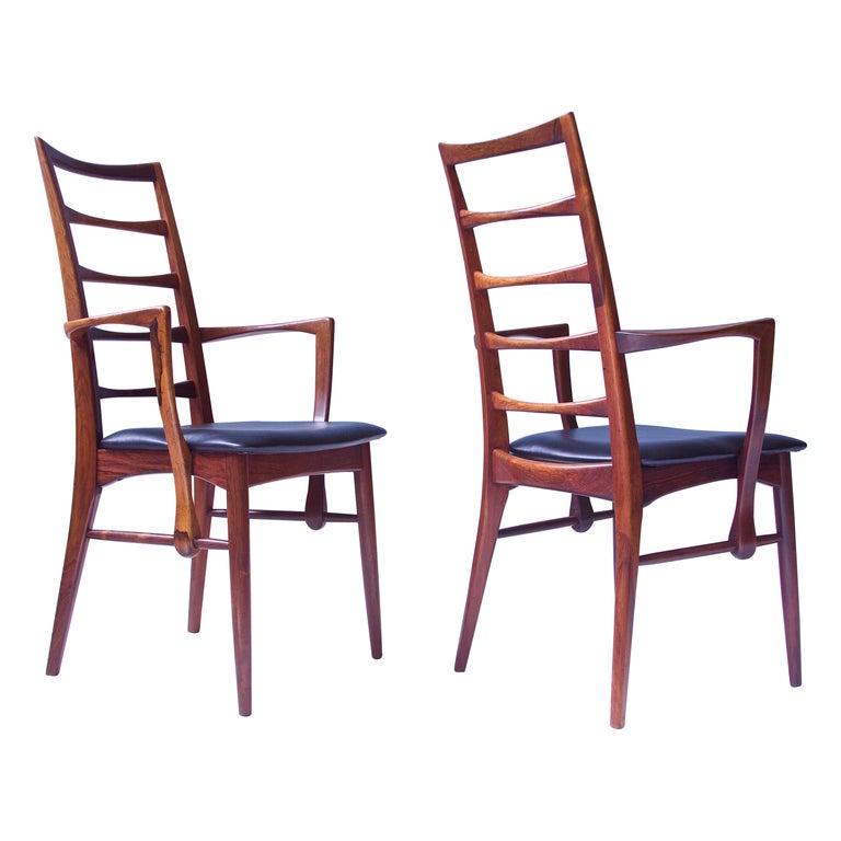Vintage Pair of 'Lis' Chairs by Niels Koefoed for Koefoeds Møbelfabrik, 1968