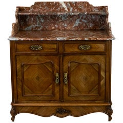 French Marble Top Wash Stand