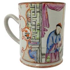 Chinese Porcelain Mug Famille Rose Decoration, c. 1760, Qianlong Period