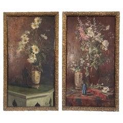 Set of Oil on Panels of Jacob Alexandre