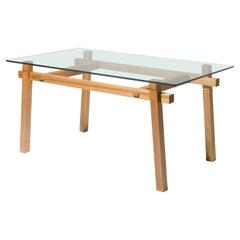 "Contemporary Table ""Between Lines"", Brazilian Wood, Handmade by Rodrigo Silveira"