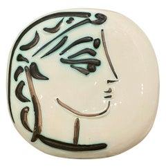 Pablo Picasso, Ceramic, Plate Profil de Jacqueline, 1956