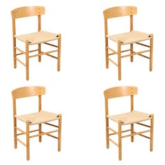 "Børge Mogensen ""FolkeStole"" J-39 Dining Chairs for FDB Møbler"