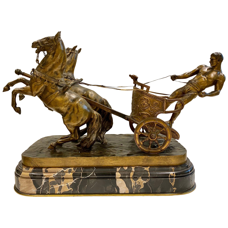 Arthur Strasser 'Austrian, 1854–1927' a Roman Charioteer Bronze