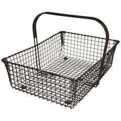19thc Wire Vegetables Basket