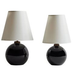 Two Unique Table Lamps by Jacques Adnet