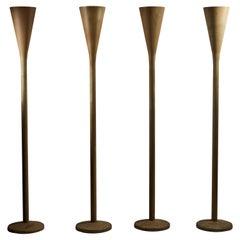 "Four ""Luminator"" Floor Lamps by Pietro Chiesa for Fontana Arte"