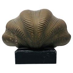 Vintage Brass Clam Shell Table Lamp by Chapman