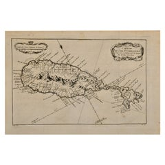 Bellin 18th Century Hand Colored Map of St. Christophe 'St. Kitts'