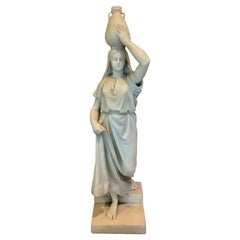 High Quality White Marble Figure Signed C. Paulus. 19th Centur