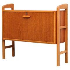 Scandinavian Midcentury Teak Bar Cabinet