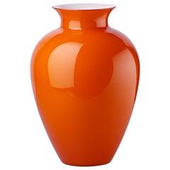 Labuan Small Glass Vase in Orange by Venini