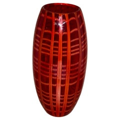 Large Vintage Cenedese for Burberry Art Glass Vase