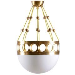 Jugendstil Ceiling Lamp / Pendant Opaline Glass, Re-Edition
