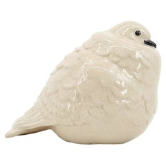 CH FRANCE French Art Deco Ceramic Pigeon, 1920s