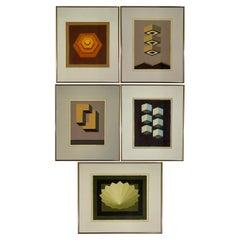 5 Watercolors, Adrian Murphy, Telespective, Related Forms, Mandala Rising, 1970