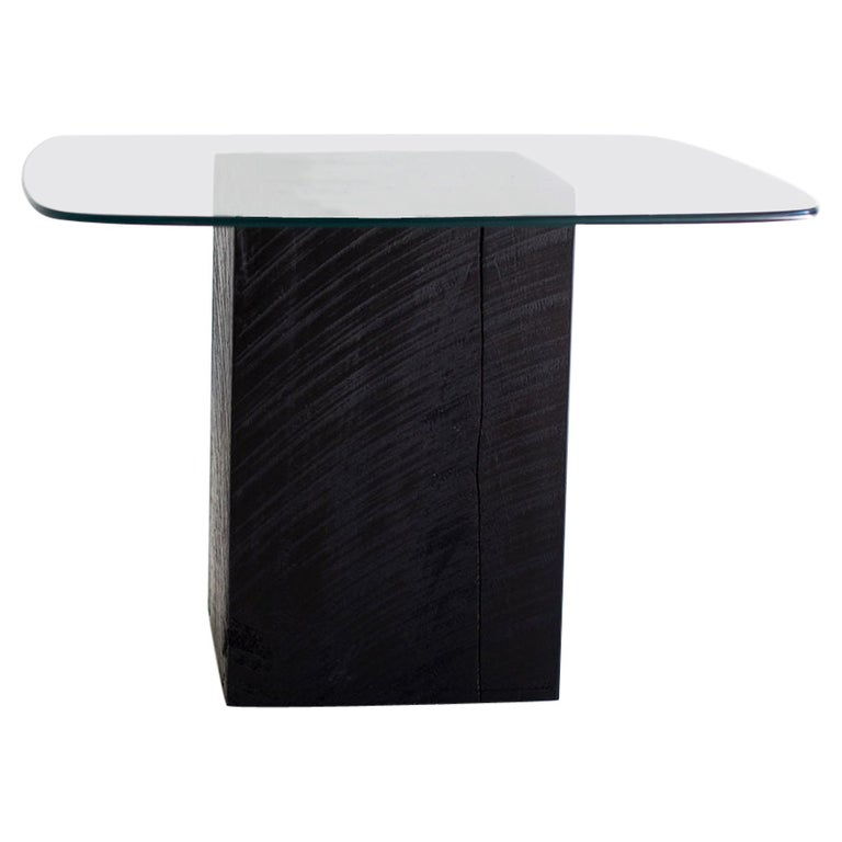 Modern Glass Top Coffee Table For Sale