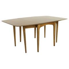 John Van Koert for Drexel Mid Century Walnut Drop Leaf Dining Table