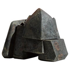 Eric Astoul, Sculpture, Emboîtement, Stoneware, La Borne, France, 2015