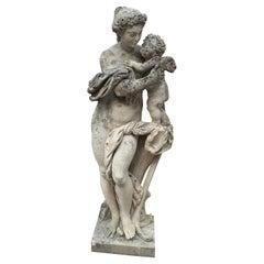 17th Century Hand Carved Limestone Four Seasons Statue