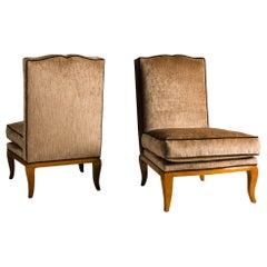 Art Deco Slipper Chairs
