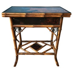 19th Century English Bamboo Game Table