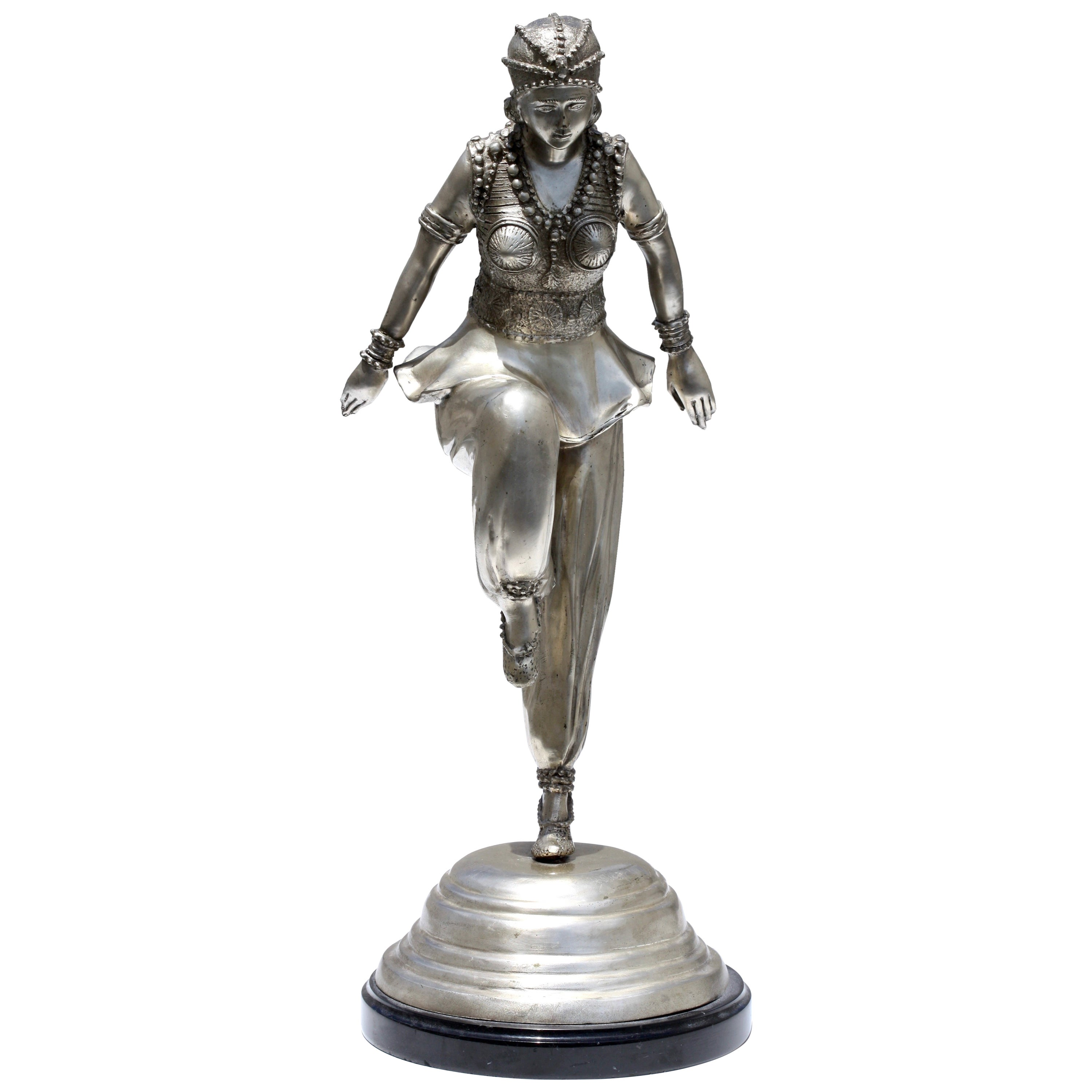 Silvered Bronze Dancer After a Model by Claire Colinet