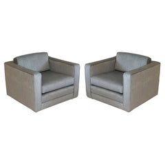 Pair of Charles Pfister Cube Chairs for Knoll