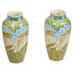 Pair of Stamped, Mintons Vases
