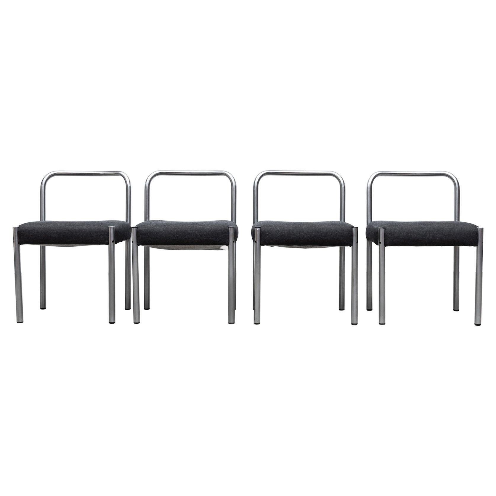 """Set of 4 Martin Visser 1970s """"Model se03"""" Side Chair for 't Spectrum"""