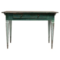 18th Century Swedish Gustavian Green Pine Desk