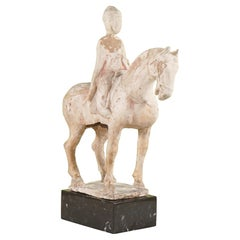Period Tang Dynasty Terra Cotta Horse and Rider