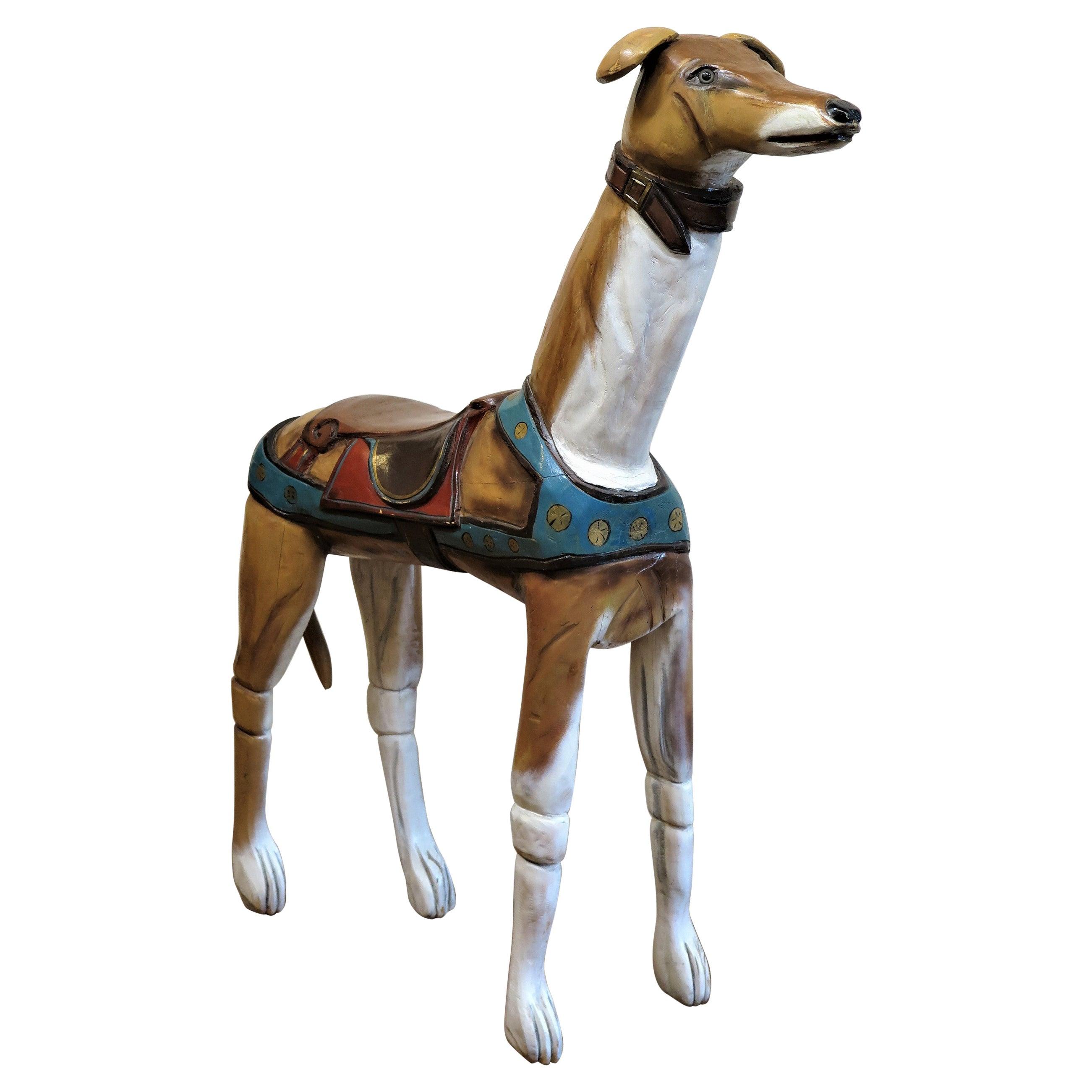 Folk Art Dog Sculpture