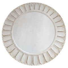 Hand-Carved Marble Charger / Server / Plate from India, Late 20th Century