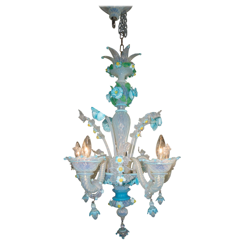 Galliano Ferro Murano Glass Chandelier