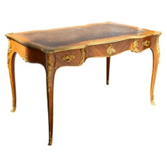 French Louis XVI Style Mahogany Bureau Plate by Krieger