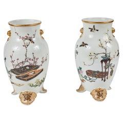 Meiji Period Porcelain Vases