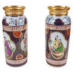 19th Century, Chinoiserie Vases