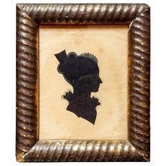 Silhouette, Young Lady with Hair Comb, Hollow Cut, circa 1830