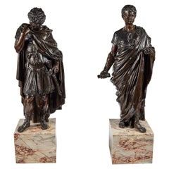 Large, Cast Bronze Roman Figures