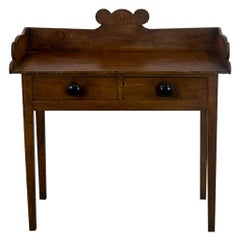 Pine Two Drawer Side Table