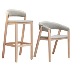 Set of Gray Oslo Stool & Chair by Pepe Albargues