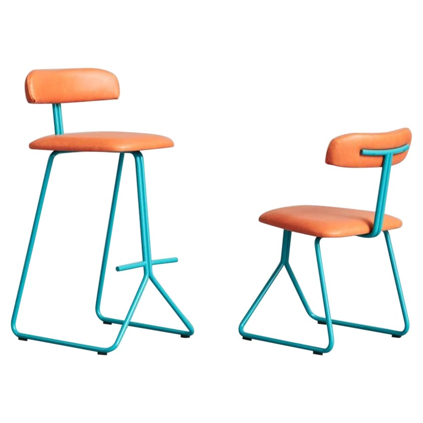 A Set of Rider Stool & Chair by Pavel Vetrov