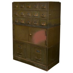 File and Card Cabinet in Army Green by the Art Metal Company